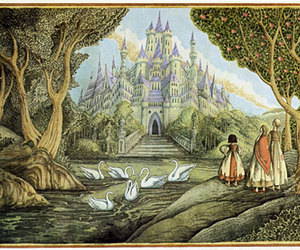 castle, fairy tale, and forest image