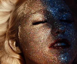 glitter, blonde, and face image