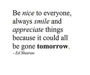 quotes, ed sheeran, and smile image