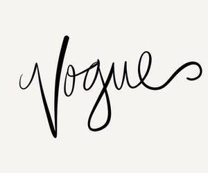 vogue, fashion, and text image
