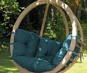 green, swing, and seat for two image
