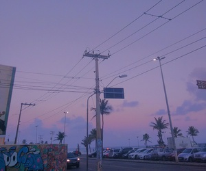 sky, grunge, and lilac image