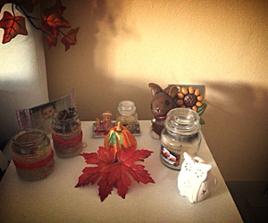 autumn, candles, and candy image