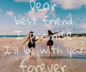 beach, best friends, and friendship image