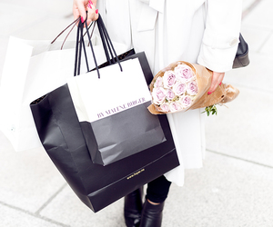 shopping, flowers, and girl image