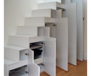 stairs, architecture, and storage image