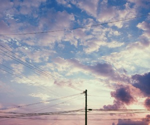 blue, clouds, and faded image
