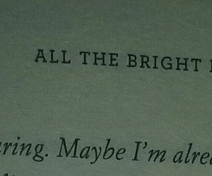 books, quote, and all the bright places image