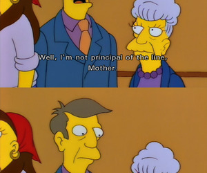 the simpsons, agnes skinner, and seymour skinner image