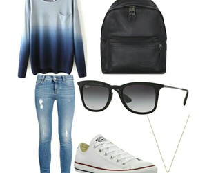 converse, sweaters, and back to school image