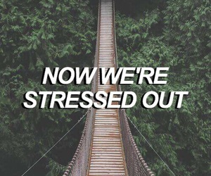 stressed out, twenty one pilots, and josh dun image