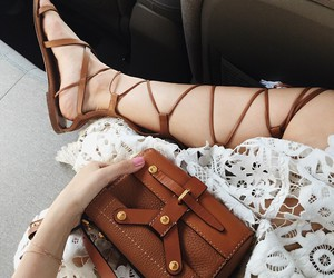bag, sandals, and style image