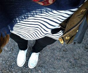 converse, fashion, and stripes image