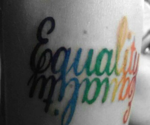 equality, tattoo, and lgbt image