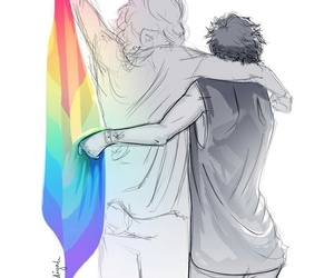 rainbow, larry, and one direction image