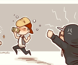 chibi, funny, and cute image