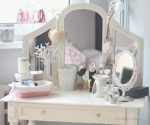 beauty, desk, and white image
