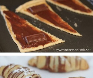 chocolate, diy, and croissant image