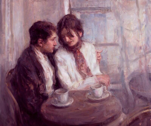 couple, art, and painting image