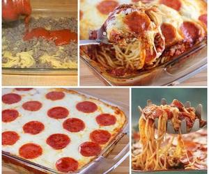pizza, food, and spaghetti image