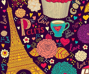 paris, wallpaper, and coffee image