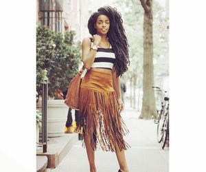 Afro, fringe, and heels image