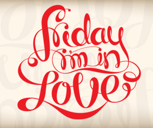 friday, love, and red image