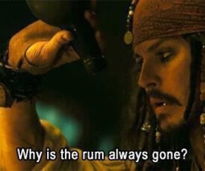 jack sparrow, rum, and johnny depp image