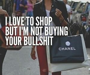 bullshit, shop, and shopping image
