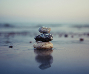 beach, photography, and stone image