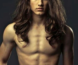 boy, long hair, and Hot image