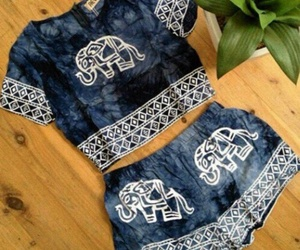 elephant, outfit, and hippie image