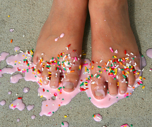 feet, pink, and sweet image