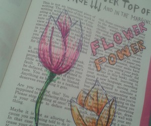doodle, flowerpower, and flowers image