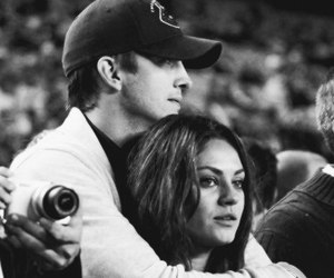 Mila Kunis, ashton kutcher, and couple image