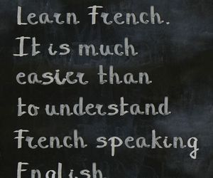 french, english, and funny image
