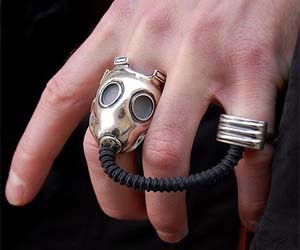 fallout, gas mask, and jewelry image