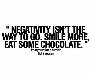 quote, chocolate, and smile image