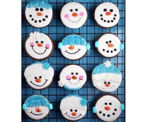 baking, christmas, and cupcakes image