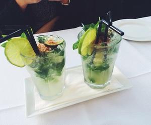 drink, mojito, and green image