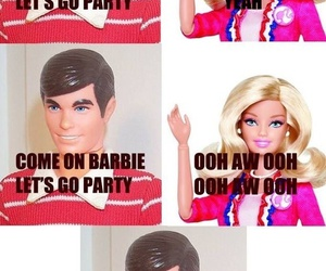 barbie, ken, and funny image