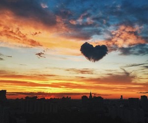 sky and heart image