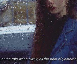 pain, rain, and 💔 image