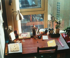 desk, vintage, and room image