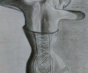 art, ballet, and charcoal image
