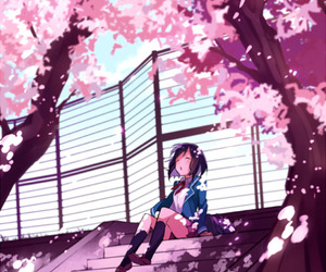anime, sakura, and kawaii image