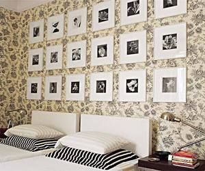 bedroom, frames, and photos image