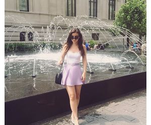 fashion, outfit, and fountain image