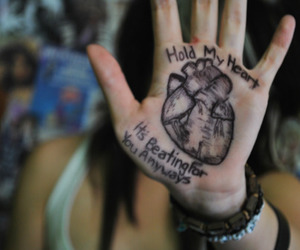 heart, hand, and pierce the veil image