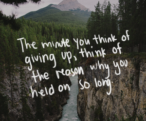 quote, life, and hold on image